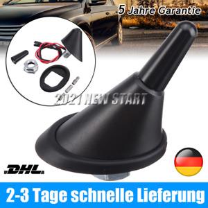 2 Sockel mit Verstärker Universal SET Auto KFZ 3cm Kurz Stab Dach Antenne + Raku