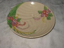 Vintage English Wade Harvest Ware Circular Hand Painted Impressed Floral Dish