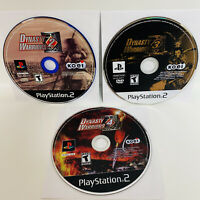 3 GAME PS2 LOT-Dynasty Warriors: 2, 3 & 4- Game Discs Only-Tested-Fast Shipping