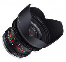 UK Samyang 12mm T2.2 Cine VDSLR Lens T/2.2 for Fuji Fujifilm X Mount