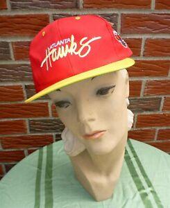Vintage 1990s Atlanta Hawks Hat #2 Adjustable Unisex New w/Official NBA Tag