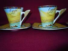 Egyptian fine china / porcelain Tea or Coffee set Designer Fathi Mahmud