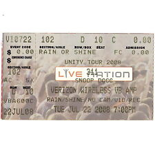 311 & SNOOP DOGG Concert Ticket Stub VIRGINIA BEACH VA 7/22/00 FICTION PLANE