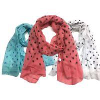 Sheer Scarf Top Fashionland Premium Soft Polka Dot Sheer Scarf