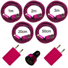 XXL 8in1 Set USB Chargeur Pour iPhone 8 x 10 7 6 S plus 5 se iPad Pink