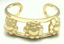 Flowers 14k Solid Gold Adjustable Toe Ring *Free Shipping*