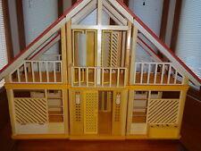BARBIE 1970's Yellow & Orange A Frame Vintage DREAM HOUSE