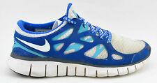 WOMENS NIKE FREE RUN 2 ID WHITE BLUE 605421 993 SIZE 10 US 42 EU RUNNING SHOES