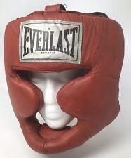 Everlast Medium Adult Red Full Head Guard/Headgear - Boxing MMA 3502