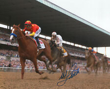 "Justify 2018 Belmont Stakes Remote Photo 8"" x 10"" Signed Mike Smith"