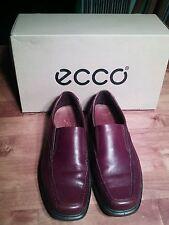 ECCO Berlin Bicycle Toe Slip On Shoes Rust Brown Leather  Sz 41 EU 7 - 7.5  US