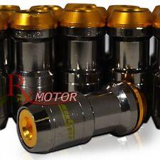 M12 X 1.5MM 20PCS PIECES FORMULA DRIFT TUNER LUG NUTS GUNMETAL GOLD