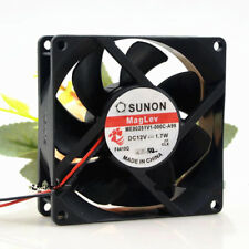 1PC SUNON ME80251V1-000C-A99 12V 1.7W 8CM 8025 2-wire silent cooling fan