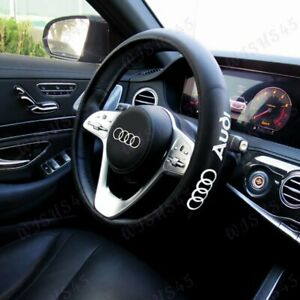 "Black New Faux Leather 15"" Diameter Car Steering Wheel Cover For All AUDI Cars"
