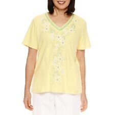 ALFRED DUNNER® S Bahama Bays Embroidered Knit Top NWT $54