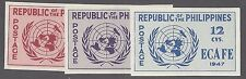 PHILIPPINES 516a - 518a MLH - IMPERF  - 1947