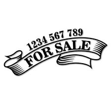 FOR SALE CUSTOM PHONE NUMBER STICKER Decal Car Vinyl Personalized Text #6299EN