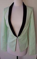 BARDOT Mint Green with Black Trim Jacket Size 6