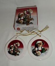 Boyd's Bears Porcelain Ornaments Set of 2Retired# 5689Nib