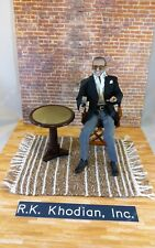 "1/6 scale hand-woven Brown & white rug for 12"" action figures Diorama Detolf"