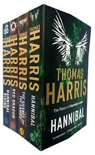 Hannibal Lecter Collection By Thomas Harris 4 Books Set Red Dragon, Hannibal New