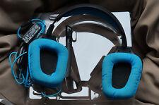 Logitech G430 Schwarz/Blau Kopfbügel Headset für PC Gebrauchter Zustand
