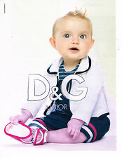 PUBLICITE ADVERTISING 104  2010  DOLCE & GABBANA  JUNIOR pret à porter enfant
