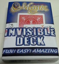 INVISIBLE DECK- BLUE or RED BACK