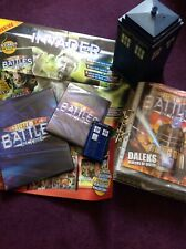 Doctor Who Battles In Time Trading Cards + Magazines, Tardis, Tin, Albums Bundle