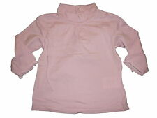 Vertbaudet tolles Langarm Shirt Gr. 74 rosa mit Roll Kragen !!
