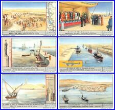 Lot 6 Chromos Liebig Series The Channel Of Suez