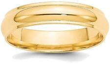 14K Yellow Gold 5mm Half Round with Edge Band Ring