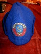 Soviet Russi Cosmonaut Cap warm wool Crest from TZK-14 Emergency Survival Arctic