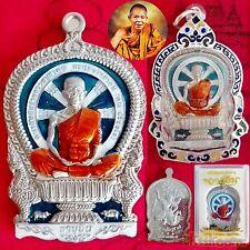 1 VERY RARE Phra SEMA NangPhan Coin Blue Enamel LP KOON Hanuman JARN Rich Amulet