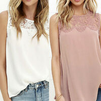 Hot  Summer Women Lace Vest Top Sleeveless Casual Tank Blouse Tops T-Shirt