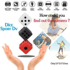 SQ16 Dice Mini Hidden Camera 1080P HD Spy Microphone Hide Key chain Cam Security