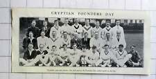 1928 Cryptians Past & Present Taking Part Founders Day Cricket Match On The Spa