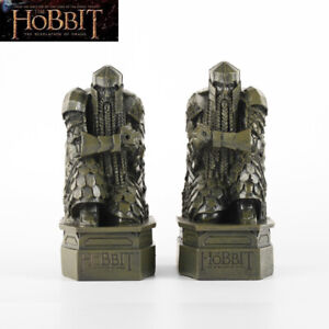2 PCS Lord of the Rings The Hobbit Smaug Gushan Treasure Dwarf Statue Decoration
