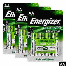 12 x Energizer Rechargeable AA batteries Universal 1300 mAh Accu NiMh Pack of 4