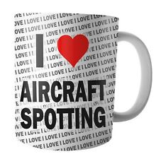 I Love Aircraft Spotting - Tea - Coffee - Mug - Cup - Birthday - Christmas