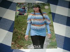 Sirdar 9457 Ladies Chunky Cardigan Vintage Knitting Pattern