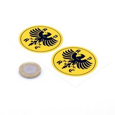 ADAC Yellow 50mm Classic Car Sticker German Automobile Club Historic Deutscher