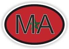 MOROCCO MA AFRICA Oval Country Code with Flag Sticker Bumper car laptop door