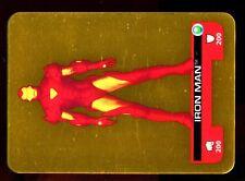 LAMINCARDS MARVEL HEROES 2008 CARTE Dorée N° 146 IRON MAN