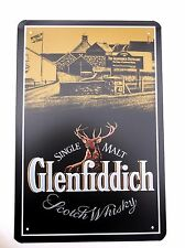 GLENFIDDICH WHISKY METAL TIN SIGN cafe pub bar  retro - small cosmetic marks