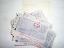 Lot Of 20 Vintage Unused Texaco Gas Station Credit Card Slips  1976 sign logo