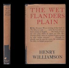 1929 Henry Williamson THE WET FLANDERS PLAIN, Battlefields Tour YPRES Arras VIMY