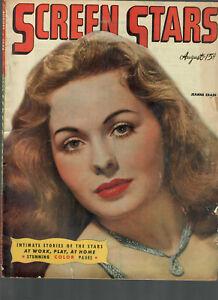 Screen Stars Aug1946 Jeanne Crain-Vincent Price-Angela Lansbury-Charles Boyer...