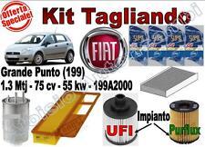 KIT TAGLIANDO FIAT GRANDE PUNTO 1.3 MTJ 75 CV OLIO ERG ONE 5W40 + FILTRI