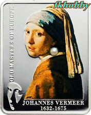 Cook Island 2009 silver 5$ Vermeer Girl With a Pearl